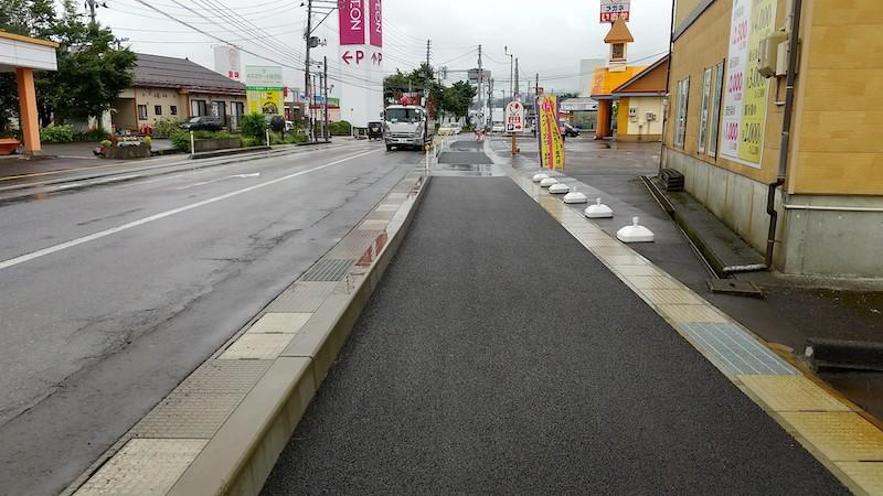 国道117号線バイパス歩道工事(平沢町)2